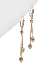 Alexander McQueen Skull Chain Drop Brass Earring