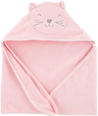 Carter's Baby Girl Embroidered Cat Hooded Towel
