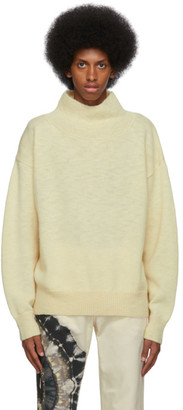 Dries Van Noten Off-White Wool Turtleneck