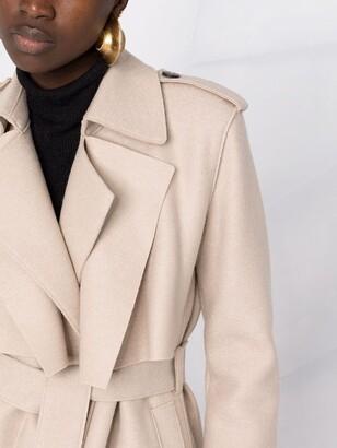 Harris Wharf London Belted-Waist Wool Trench Coat