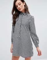 Fashion Union Shirt Dress In Gingham