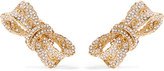 Dolce & Gabbana Gold-plated Crystal Clip Earrings - one size