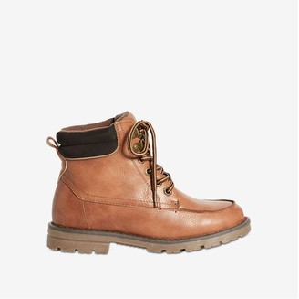 Joe Fresh Kid Boys' Lace-Up Hiking Boots, Brown (Size 6)