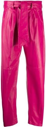 FEDERICA TOSI Leather Balloon Leg Trousers