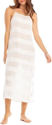 Tavik Gadot Tonal Stripe Cover-Up Dress