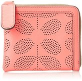 Orla Kiely Sixties Stem Punched Leather Small Zip Purse Wallet