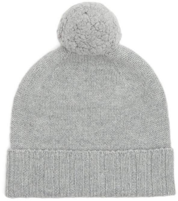 097834194 Cashmere Pom Pom Beanie Hat