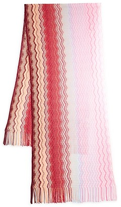 Missoni Chevron-Knit Fringed Scarf