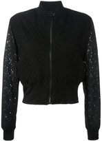 Paul Smith sheer cropped bomber jacket - women - Cotton/Nylon/Polyester/Acetate - 46