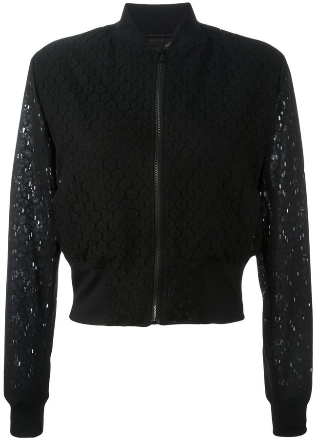 Paul Smith sheer cropped bomber jacket