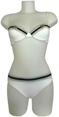 John Galliano White Synthetic Swimwear
