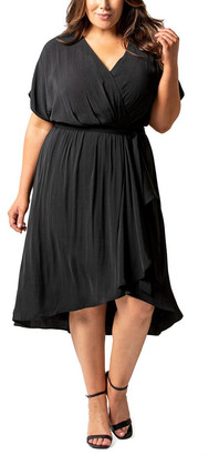 Forever New Curve Melina Curve Batwing Ruffle Wrap Dress