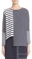 Stella McCartney Asymmetrical Breton Stripe Top