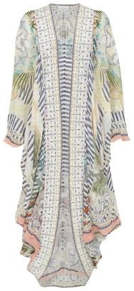 Camilla Tropical Print Kaftan Dress