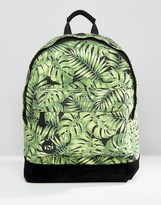 Mi-Pac Tropical Leaf Backpack Green