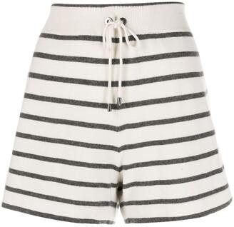 Brunello Cucinelli Striped Cashmere Shorts