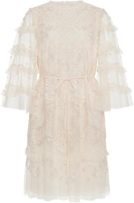 Needle & Thread Patchwork Lace Mini Dress