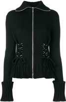 Alexander McQueen cinched zip top - women - Wool - XS