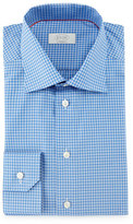 Eton Contemporary-Fit Saturated Check Dress Shirt, Blue