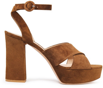 Gianvito Rossi Roxy 105 Suede Platform Sandals