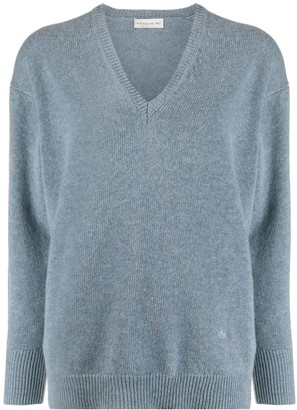 Etro ribbed V-neck jumper