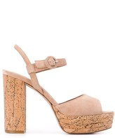 Le Silla cork-effect sandals