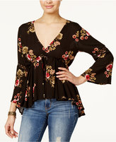 American Rag High-Low Floral-Print Peasant Top, Only at Macy's