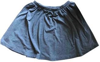 Asos Grey Cotton Skirt for Women