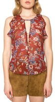 Willow & Clay Women's Ruffle Floral Print Top