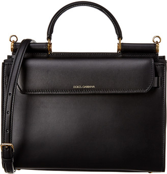 Dolce & Gabbana Sicily 62 Small Leather Satchel