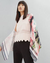 Ted Baker Painted Posie silk cape scarf