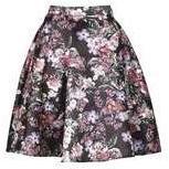 Dorothy Perkins Womens *Izabel London Black Zip Skirt- Black