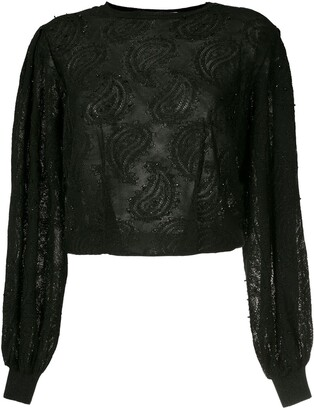 Nk Randy jacquard embroidery blouse