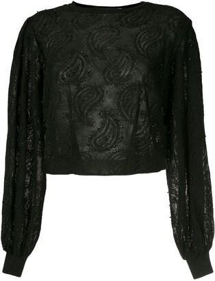 Nk Randy jacquard embroidery blouse