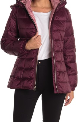 Kate Spade Hooded Mid-Weight Zip Down Puffer Jacket