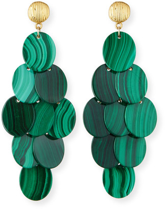 Nest Jewelry Malachite Cluster Statement Earrings