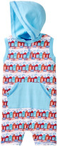 Coccoli Beach Hut Print Hooded Sleeveless Romper (Baby Boys)