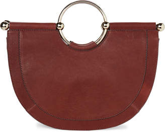 Vince Camuto Ring Handle Leather Satchel