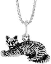 Sabrina Silver Sterling Silver Small Cat Pendant, 3/8 inch