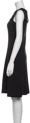 Ter Et Bantine Crew Neck Knee-Length Dress Black