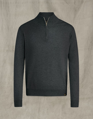 Belstaff ENGINEERED QUARTER ZIP Grey