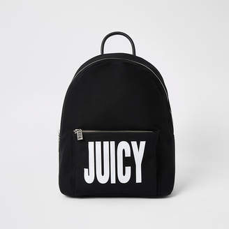River Island Juicy Couture black logo print backpack