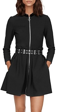 Maje Ranelin Zip-Front Mini Dress