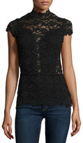 Nightcap Clothing Day-to-Date Lace Top, Black