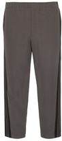 Alexander Mcqueen Cropped Relaxed-leg Crepe Trousers