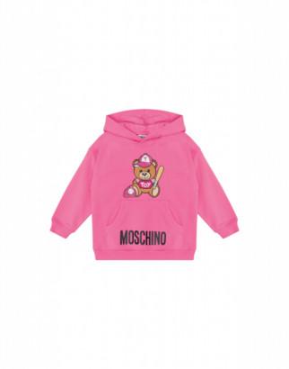 Moschino Baseball Teddy Bear Sweatshirt Unisex Pink Size 4a It - (4y Us)