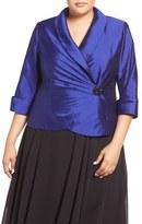 Alex Evenings Plus Size Women's Embellished Wrap Blouse
