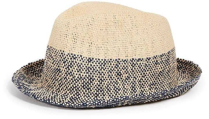 9ebe3a51d Two Tone Straw Trilby Hat