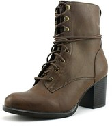 American Rag Laina Women Round Toe Synthetic Brown Ankle Boot.