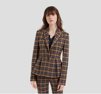 Mulberry Faith Jacket Autumn Gold Woven Wool Check